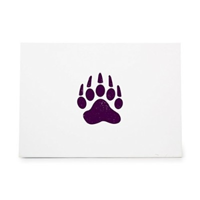 Animal Paw Print Track Style 6491, Rubber Stamp Shape great for Scrapbooking, Crafts, Card Making,...