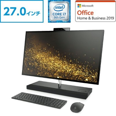 GTX 1050 Core i7 16GBメモリ 256GB PCIe SSD + 2TB HDD 27型 4K タッチ液晶 HP ENVY All-in-One 27(型番:6DW74AA...