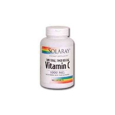 海外直送品 Solaray Vitamin C 1000mg Two Stage Timed Release - 250 - Capsule