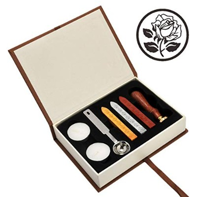 (The Rose 3) - Wax Seal Stamp Kit, Yoption Classic Vintage Seal Wax Stamp Set, Retro Seal Stamps...