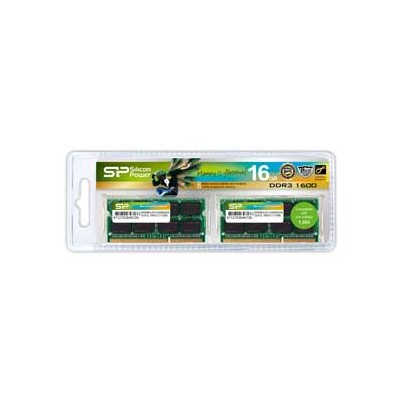 SP016GLSTU160N22JB シリコンパワー PC3L-12800(DDR3L-1600)204pin DDR3 SDRAM S.O.DIMM16GB(8GB×2枚)
