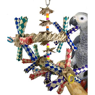 Bonka Bird Toys 1241 DOUBLE HELIX BIRD TOY parrot cage toys cages cockatiel conure african grey by...