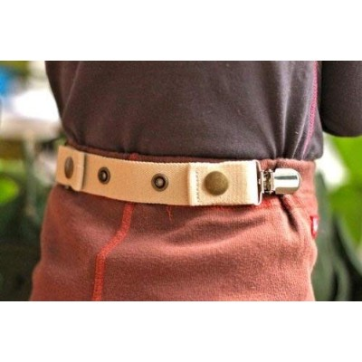 Dapper Snappers Adjustable Toddler Belt with Add-on Clips Included (Beige) by Dapper Snappers