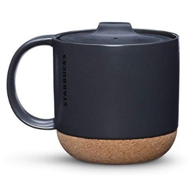 (Black) - Starbucks Cork Mug - Black, 350ml