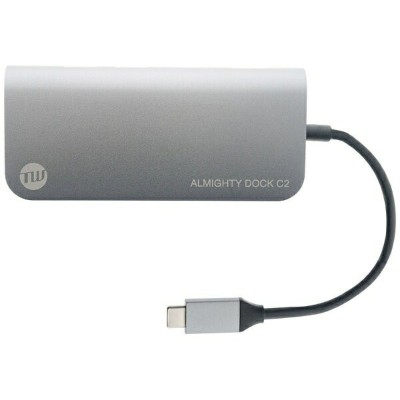 TUNEWEAR 0.12m[USB-C オス→メス SDカードスロット / micro SDカードスロット / HDMI / Mini DisplayPort / LAN / USB-Ax2 /...