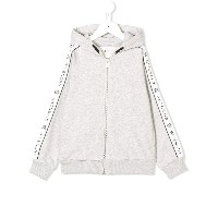 Givenchy Kids ロゴ ジップアップパーカー - グレー