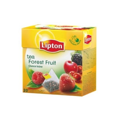 [Pack of 12] Lipton Black Tea - Forest Fruit - Premium Pyramid Tea Bags (20 Count Box) by Lipton