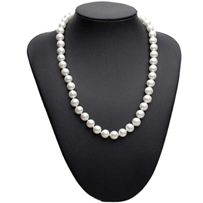 Perfect round pearl necklace 925 silver jewelry [並行輸入品]