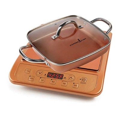"""Copper Chef IH調理台 Cooktop and 11"""" Casserole Pan 980157879"""