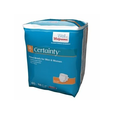 Walgreens Certainty Fitted Briefs, Medium, 40 ea by Walgreens