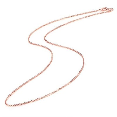 Genuine 18K Rose Gold Chain Necklace [並行輸入品]