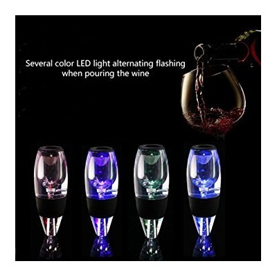 Wine Aerator Pourer Fast Wine Decanter with LED Sensor Light Wine Gift Wine Accessories for Red...