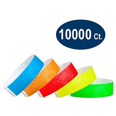 WristCo Variety Pack 3/ 4インチタイベックWristbands 10000 Count