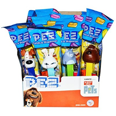 Pez The Secret Life of Pets Candy Dispensers Pack of 12 by PEZ Candy