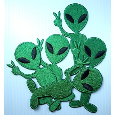 Alien Cartoon Logo Iron on Patch Great Gift for Men and Women/ramakian(5 pieces) by H siam
