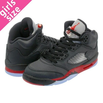 NIKE AIR JORDAN 5 RETRO GS ナイキ エア ジョーダン 5 レトロ GS BLACK/UNIVERSITY RED 440888-006
