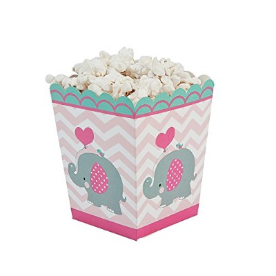 Pink Elephant Popcorn Boxes by adventure's bag