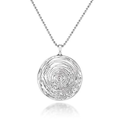 Silver hollow flower pendant Chains [並行輸入品]
