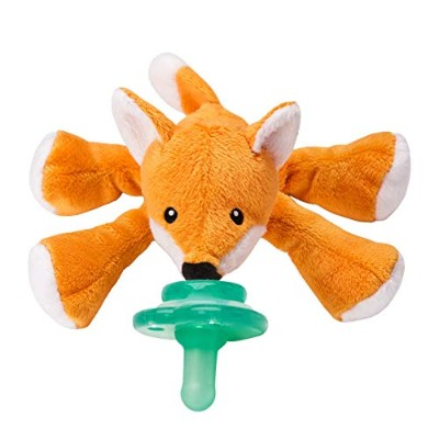 Nookums Paci-Plushies Fox Shakies - Universal Pacifier Holder and Rattle (2 in 1) by Nookums