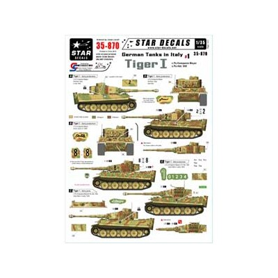 1/35 WWII 独 イタリア戦線#1 マイヤー重戦車中隊/第508 重戦車大隊 デカールセット【SD35-870】 STAR DECALS