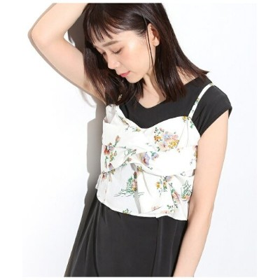 【SALE/70%OFF】【ビスチェアップ】花柄プリントビスチェ ビス カットソー【RBA_S】【RBA_E】