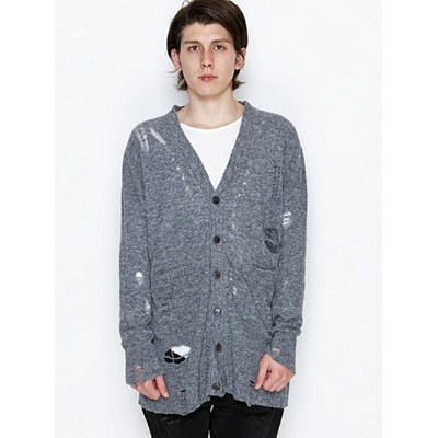 【SALE/40%OFF】NUMBER (N)INE LONG CARDIGAN_DAMAGE ナンバーナイン ニット【RBA_S】【RBA_E】【送料無料】