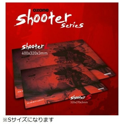 OZONE OZSHOOTERS ゲーミングマウスパッド Shooter [320×270×3mm][OZSHOOTERS]