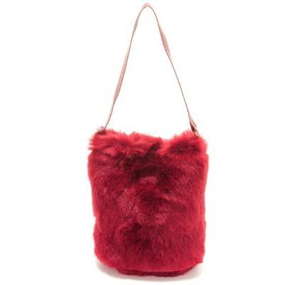 【SALE/40%OFF】X-girl FUR BUCKET TOTE エックスガール バッグ トートバッグ レッド ブルー ホワイト【送料無料】