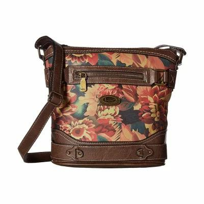 b.o.c. ショルダーバッグ Jardina Crossbody Dark Floral/Chocolate