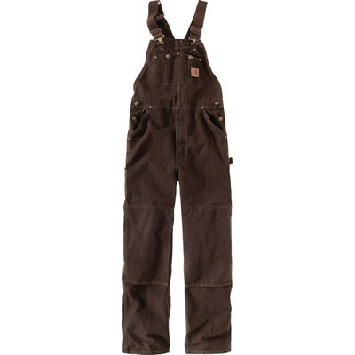 カーハート オーバーオール Sandstone Bib Overalls Dark Brown