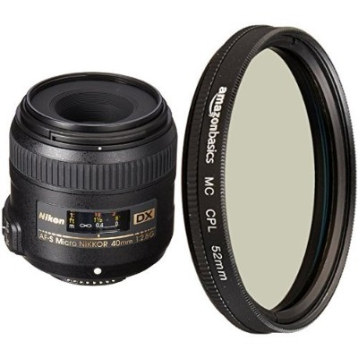 Nikon AF-S DX Micro-NIKKOR 40mm Close-up レンズ with Circular Polarizer レンズ - 52 mm (海外取寄せ品)