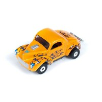 AW 1941 Willys Coupe Gasser Flames or R08 HOスロットカー