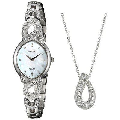 セイコー 腕時計 レディース SUP367 Seiko Women's 'Ladies Crystal Jewelry' Quartz Stainless Steel Casual Watch,...