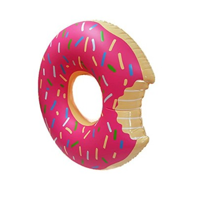 フロート プール 水遊び 浮き輪 SplashNmore Inflatable Donut Float For Beach or Pool - 4 FEET ! ! ! (STRAWBERRY...
