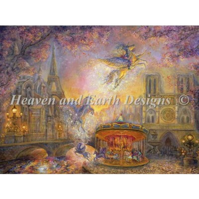 Heaven And Earth Designs クロスステッチ刺繍図案 HAED 輸入 上級者 Josephine Wall 魔法のメリーゴーランド Magical Merry Go Round...