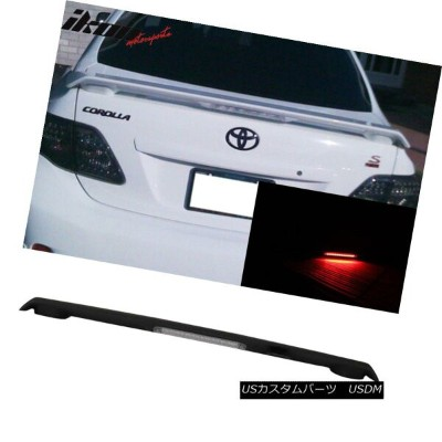 エアロパーツ Matte Black Fits 09-13 Corolla S LE XLE XRS ABS Trunk Spoiler & LED Brake Lamp マットブラックフィット09...