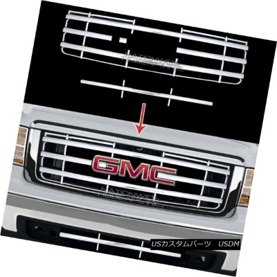 USグリル New 07-13 GMC Sierra 1500 CHROME Snap On Grille Overlay Front Grill Cover Insert 新07-13 GMC...