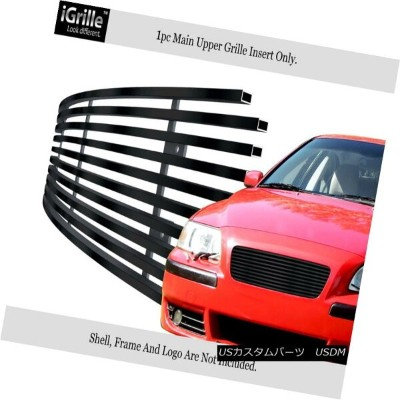 USグリル Fits 2001-2004 Volvo S60 Black Stainless Steel Billet Grille Inserts 2001-2004ボルボS60ブラックステンレス鋼...