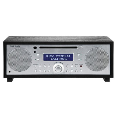Tivoli Audio MSYBT-1775-JP Bluetooth対応ミニコンポ Music System BT ブラック/シルバー [MSYBT1775JP]