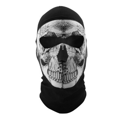 【25030104】 COOLMAX BALACLAVA WITH NEOPRENE FACE MASK:スカル