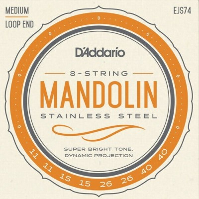 【DT】D'Addario マンドーラ弦 EJS74 Stainless Steel Medium 011-040