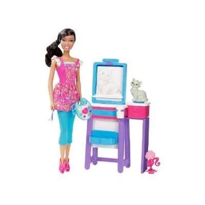 Barbie I Can Be Art Teacher African-American Doll Playset