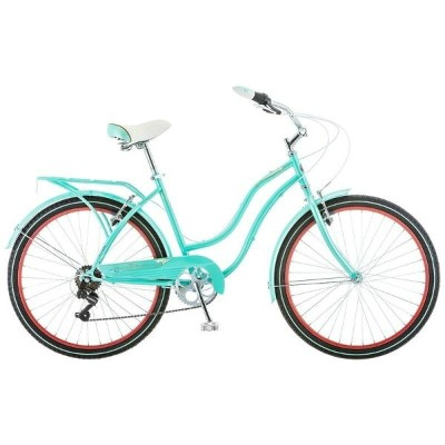 自転車 Schwinn 26インチLadies Perla 7 Speed Cruiser Bike, 26-Inch, Blue