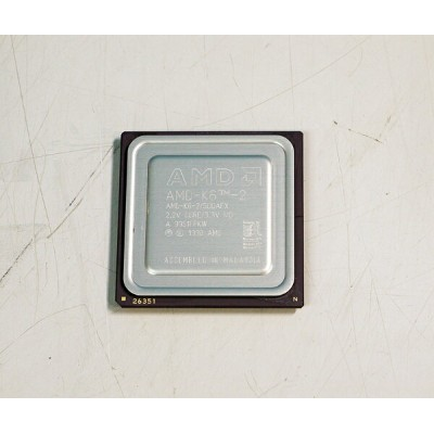 AMD K6-2 500AFX 500MHz Socket Super7 L1 32KB CPU【中古】