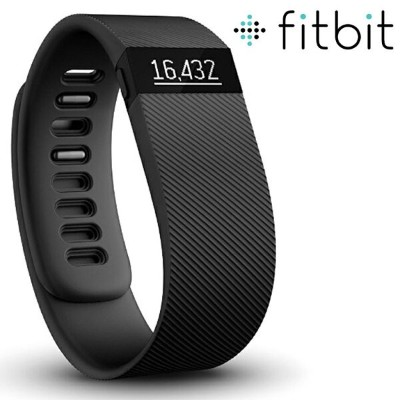 Fitbit Charge flex 上位機種 Wireless Activity Wristband, Black, Large 6.3-7.9 in 送料無料 【並行輸入品】