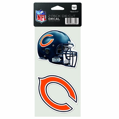 NFL ダイカットステッカー2種セット ベアーズ(A) Chicago Bears Set of 2 Die Cut Decals (A)