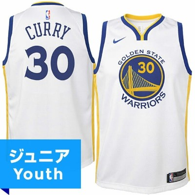 NBA スウィングマンジャージ ステフィン・カリー(ジュニア ホワイト)ウォリアーズ Nike Stephen Curry Golden State Warriors Youth White...
