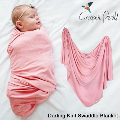 COPPER PEARL KNIT SWADDLE BLANKET コッパーパール おくるみ ブランケット スワドル ピンク [181]