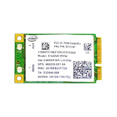 Lenovo純正 60Y3197 Intel WiMAX/WiFi Link 5150 300Mbps 802.11a/b/g/n + Wimax 無線LANカード for ThinkPad...