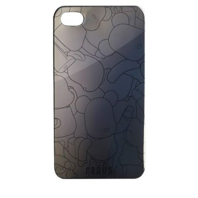 ベアブリック back cover for iPhone 4  (BLACK X BLACK CHROME)